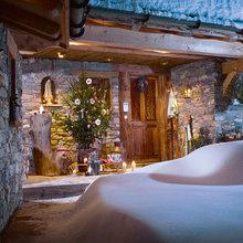 Фотография: Терраса в стиле Кантри, Дом, Дома и квартиры, Камин – фото на InMyRoom.ru