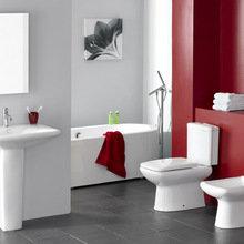 Фотография: Ванная в стиле Современный, Декор интерьера, Квартира, Дома и квартиры, Встраиваемая техника – фото на InMyRoom.ru