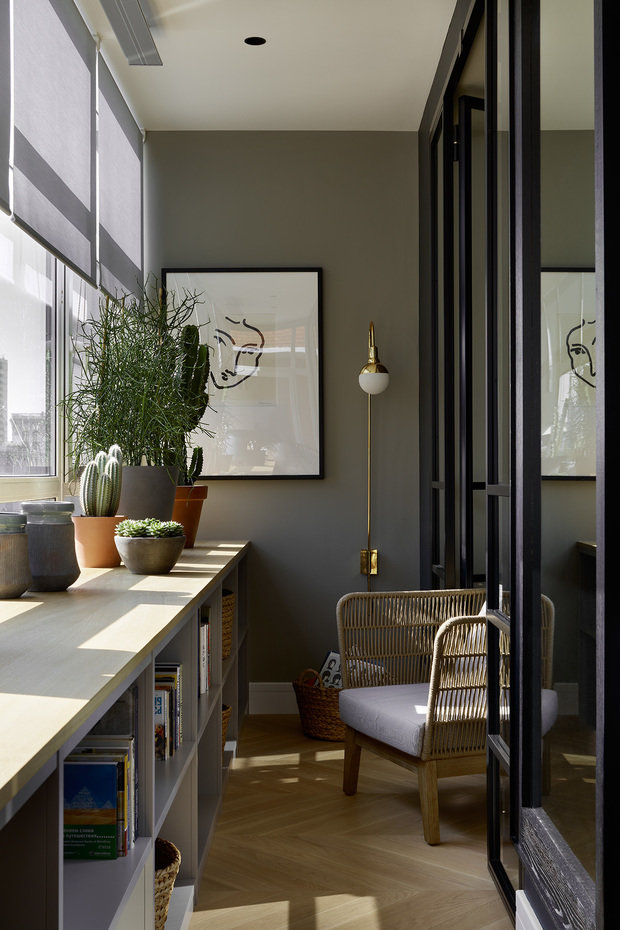 Фотография: Балкон в стиле Эклектика, Современный, Квартира, Проект недели, Москва, 3 комнаты, 60-90 метров, Aiya Design – фото на INMYROOM