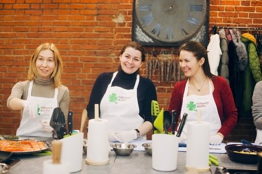 Фотография: Гостиная в стиле Прованс и Кантри, Еда, Индустрия, События, Кулинарная студия Clever, Кулинария – фото на InMyRoom.ru