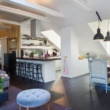Фотография: Кухня и столовая в стиле Кантри, Скандинавский, Квартира, Дом, Ремонт на практике – фото на InMyRoom.ru