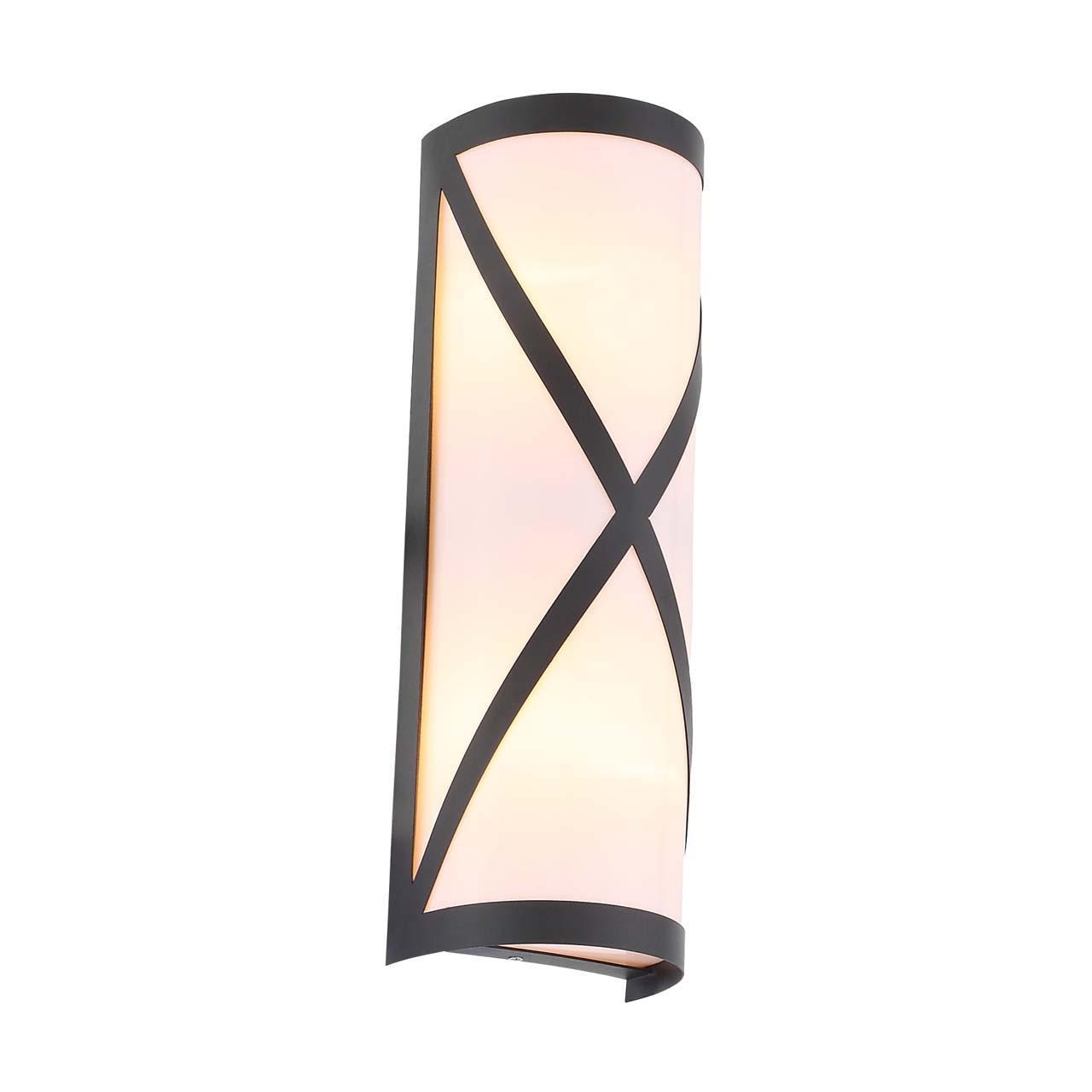 Уличный настенный светильник Agio черного цвета