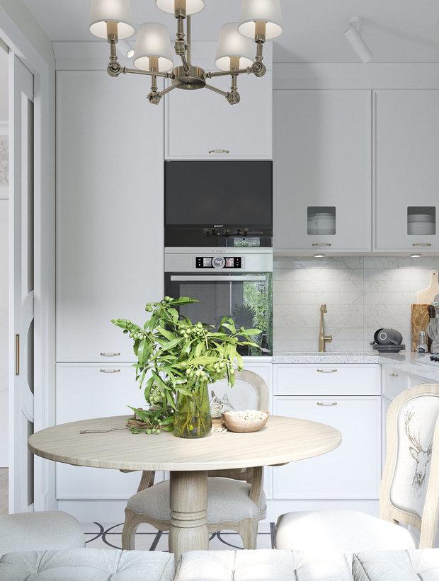 Фотография: Кухня и столовая в стиле Современный, Классический, Декор интерьера, Сталинка – фото на INMYROOM