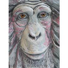 Панно Огненная обезьяна (красная отделка)