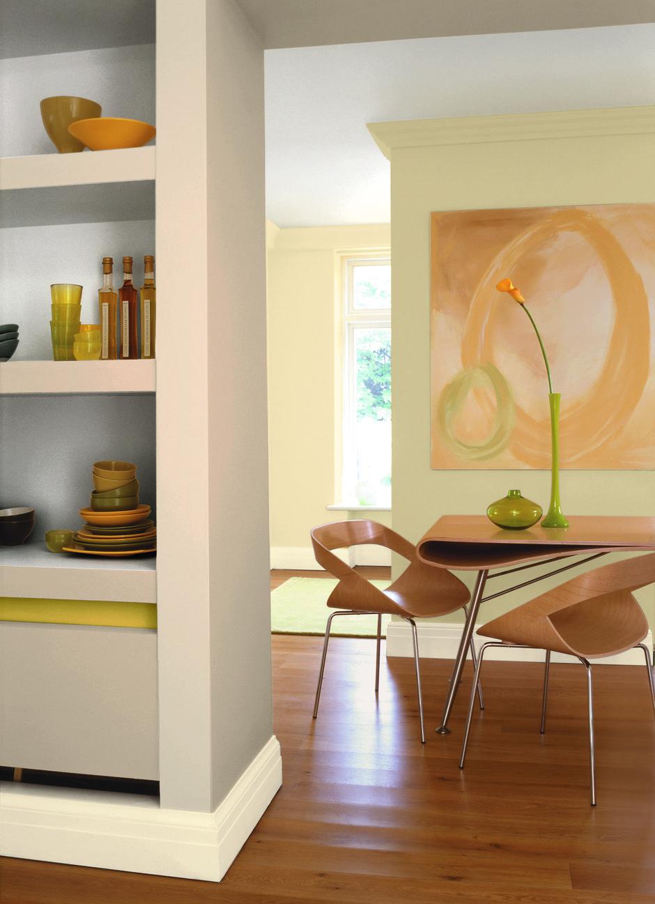 Фотография: Кухня и столовая в стиле Современный, Декор интерьера, Дизайн интерьера, Цвет в интерьере, Советы, Dulux, Серый – фото на InMyRoom.ru