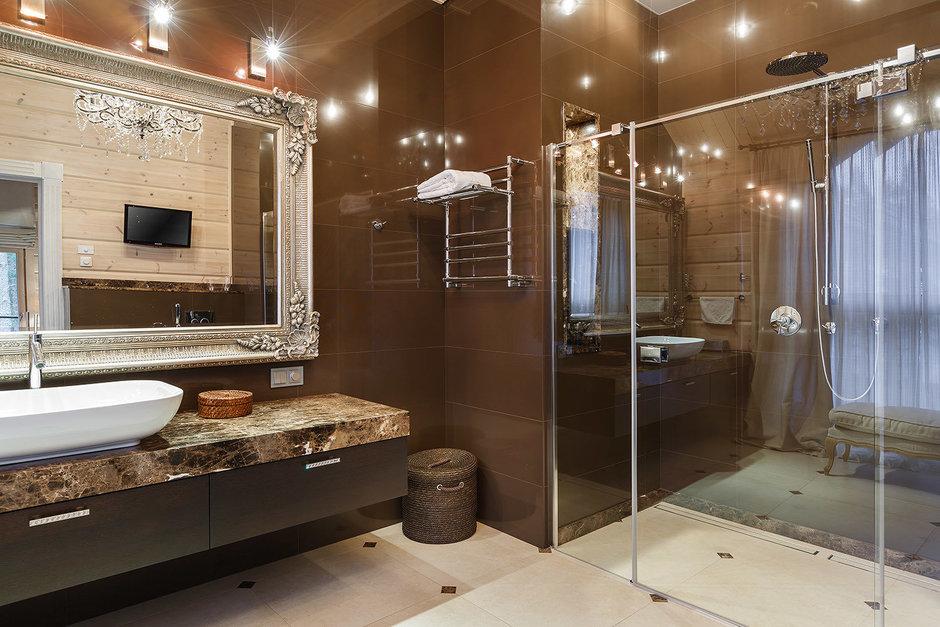 Фотография: Ванная в стиле Эклектика, Классический, Дом, Дома и квартиры, Проект недели, Дача – фото на InMyRoom.ru