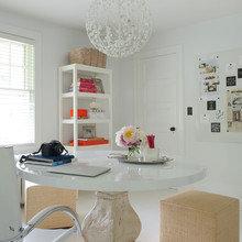 Фото из портфолио Яркие акценты на белом фоне – фотографии дизайна интерьеров на InMyRoom.ru