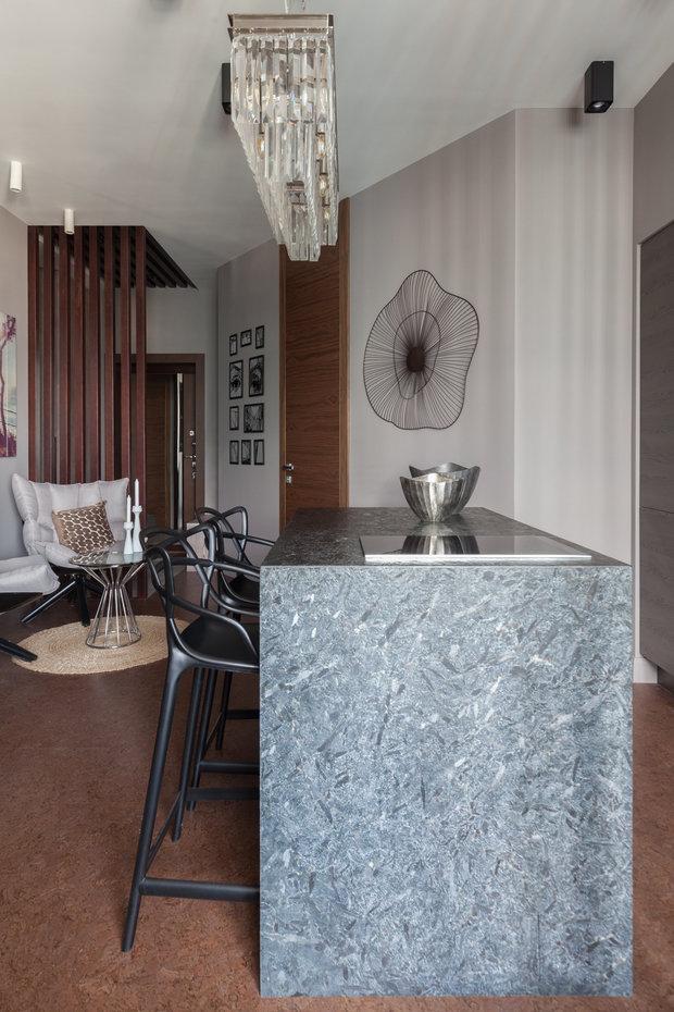 Фотография: Кухня и столовая в стиле Эклектика, Квартира, Проект недели, Москва, Диана Мальцева, Монолитный дом, 1 комната, 40-60 метров, ЖК «Флотилия» – фото на INMYROOM