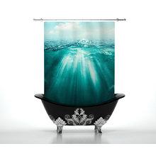 Шторы в ванну: Шум океана