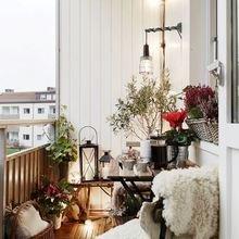 Фотография: Балкон в стиле Скандинавский, Кантри, Квартира, Декор, Советы, как обустроить открытый балкон, городской балкон, открытый балкон, идеи для открытого балкона – фото на InMyRoom.ru