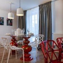 Фото из портфолио Поп-гостиная и арт-кухня (Дачный ответ НТВ) – фотографии дизайна интерьеров на INMYROOM