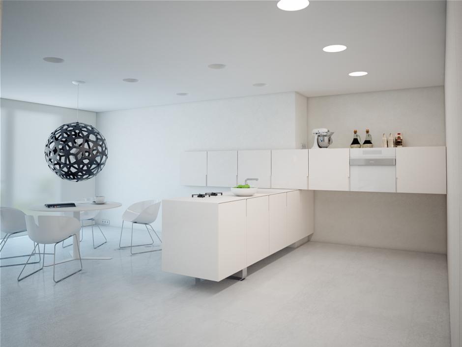 Фотография: Кухня и столовая в стиле Хай-тек, Декор интерьера, Квартира, Декор, Советы, Минимализм, минимализм в интерьере, как оформить интерьер в стиле минимализм, минималистский интерьер, стиль в интерьере – фото на InMyRoom.ru