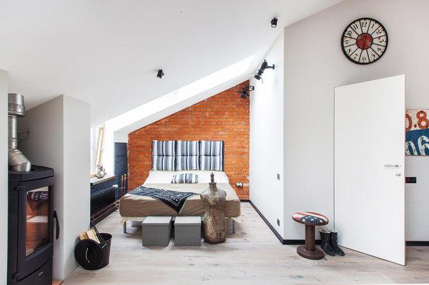 Фото из портфолио Лофт в Даниловской Мануфактуре – фотографии дизайна интерьеров на INMYROOM