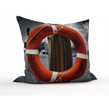 Декоративная подушка: Красный круг
