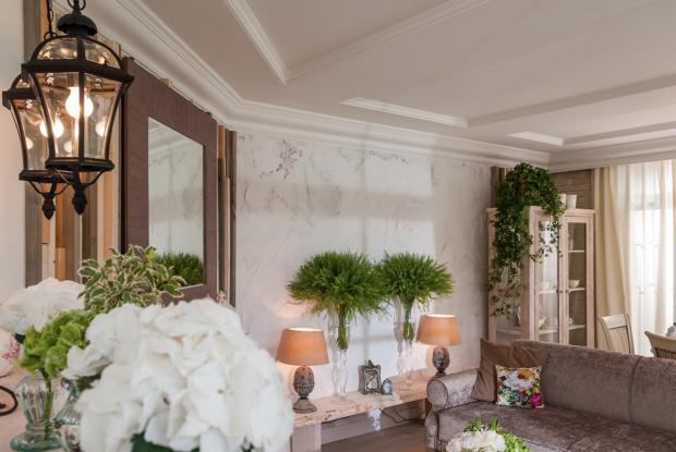 Фотография: Гостиная в стиле Прованс и Кантри, Марокко + Прованс, интерьерный стиль прованс, прованс в интерьере – фото на InMyRoom.ru