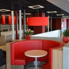Фото из портфолио Абажуры для ресторанов и кафе – фотографии дизайна интерьеров на InMyRoom.ru