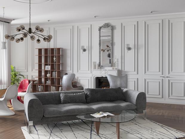 Фото из портфолио Квартира на Большой Грузинской – фотографии дизайна интерьеров на INMYROOM