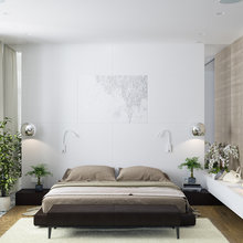 Фото из портфолио Светлая спальная комната – фотографии дизайна интерьеров на InMyRoom.ru