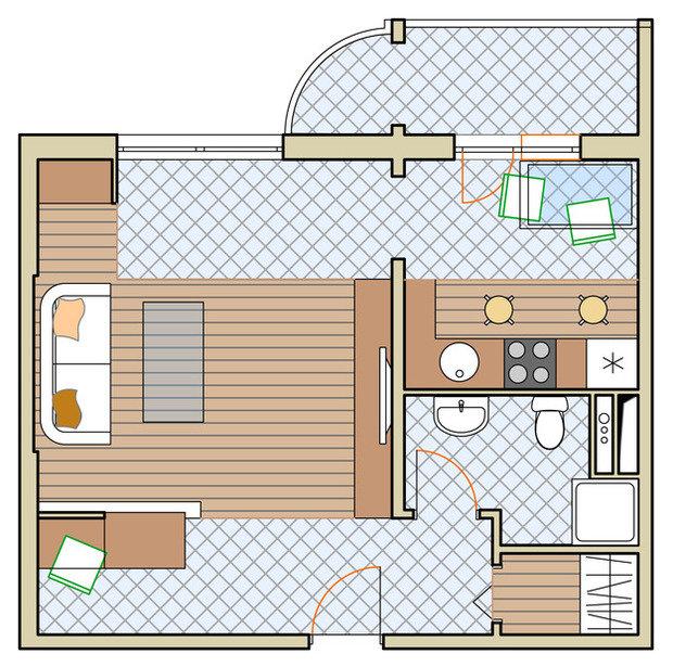 Фотография: планировки в стиле , квартира, дома... / интерье.