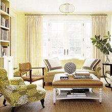Фотография: Гостиная в стиле Кантри, Декор интерьера, Дизайн интерьера, Цвет в интерьере, Желтый – фото на InMyRoom.ru