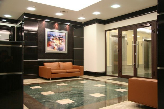 Фото из портфолио Офисные помещения в Балгуч-Плаза – фотографии дизайна интерьеров на INMYROOM