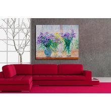 Декоративная картина на холсте: Букеты ирисов
