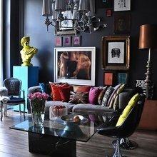 Фотография: Гостиная в стиле Эклектика, Декор интерьера, Дом, Декор дома, Цвет в интерьере – фото на InMyRoom.ru