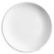 Тарелка без бортовая белого цвета