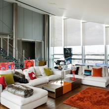 Фотография: Гостиная в стиле Современный, Квартира, Дома и квартиры, Лондон, Панорамные окна – фото на InMyRoom.ru
