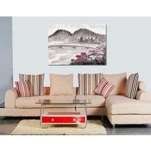 Дизайнерская картина на холсте: Розовая поляна