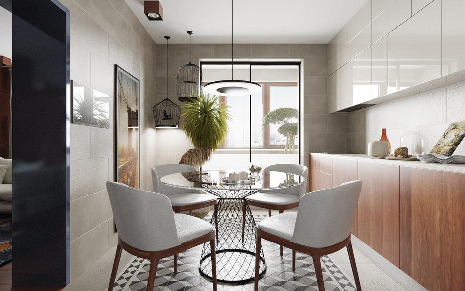 Фотография: Кухня и столовая в стиле Минимализм, Квартира, Проект недели – фото на InMyRoom.ru