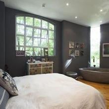 Фотография: Спальня в стиле Лофт, Квартира, Терраса, Дома и квартиры, Лондон, Пентхаус – фото на InMyRoom.ru