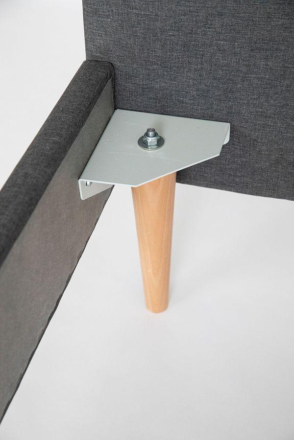 Кровать Grey серого цвета без изголовья 140х200 фото