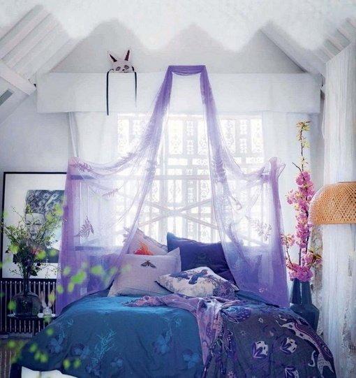 Фотография: Спальня в стиле Прованс и Кантри, Скандинавский, Интерьер комнат, Кровать, Гардероб, Комод, Пуф, Табурет – фото на InMyRoom.ru