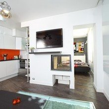 Фотография: Кухня и столовая в стиле Кантри, Минимализм, Лофт, Декор интерьера, Малогабаритная квартира, Квартира, Дома и квартиры – фото на InMyRoom.ru