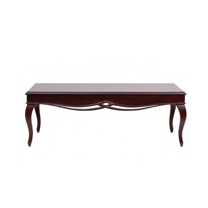 Кофейный столик коричневый деревянный
