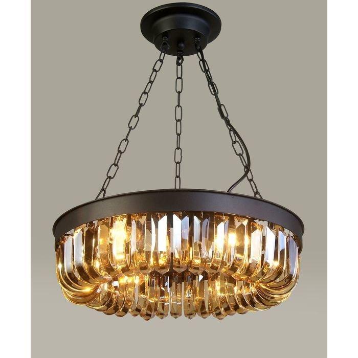 Подвесной светильник FAVOURITE  Amber с декоративным плафоном из хрусталя