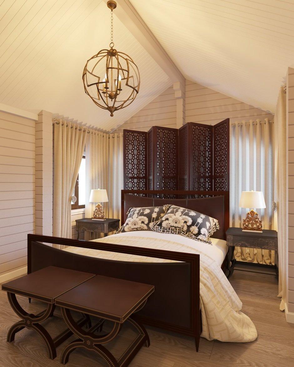 Фотография: Спальня в стиле Восточный, Дом, Проект недели, Дом и дача – фото на InMyRoom.ru