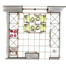 Фотография: Планировки в стиле , Кухня и столовая, Декор интерьера, Интерьер комнат – фото на InMyRoom.ru