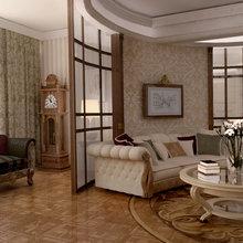 Фотография: Гостиная в стиле Классический, Современный, Эклектика, Дом, Дома и квартиры – фото на InMyRoom.ru