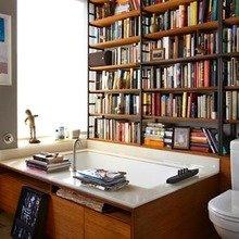 Фотография: Ванная в стиле Современный, Системы хранения, Библиотека, Домашняя библиотека – фото на InMyRoom.ru