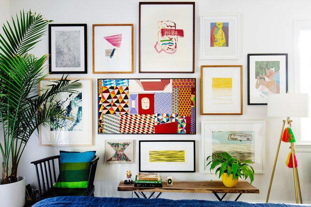 Фотография: Гостиная в стиле Современный, Советы, Samsung, ТВ в интерьере – фото на INMYROOM