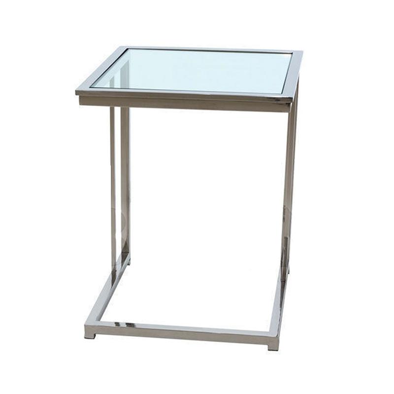 Купить Приставной журнальный столик Van Roon Bergmann со столешницей из плотного прозрачного стекла, inmyroom, Нидерланды