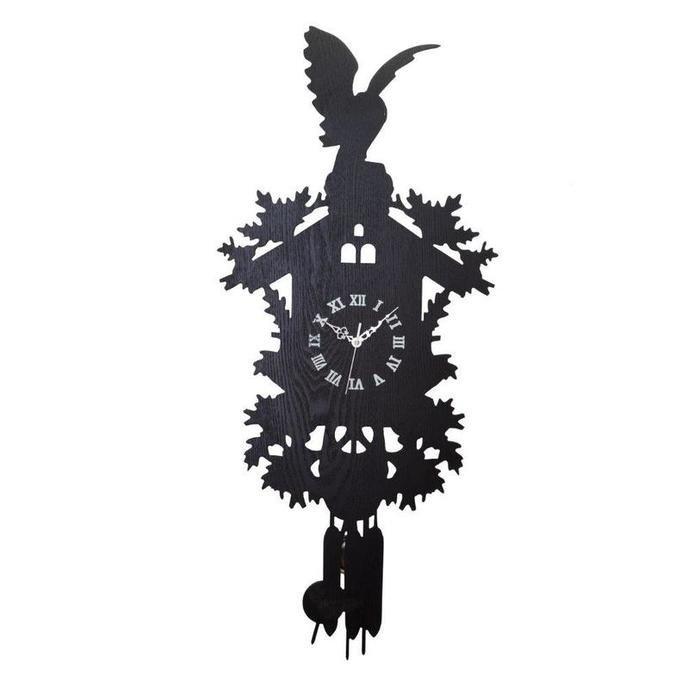 "Настенные часы с маятником ""Domestic Puzzle Black I"""