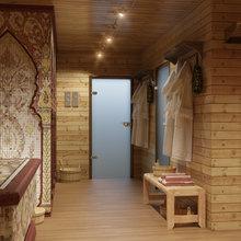 Фото из портфолио Дизайн душевой комнаты. Народная русская банька. – фотографии дизайна интерьеров на InMyRoom.ru