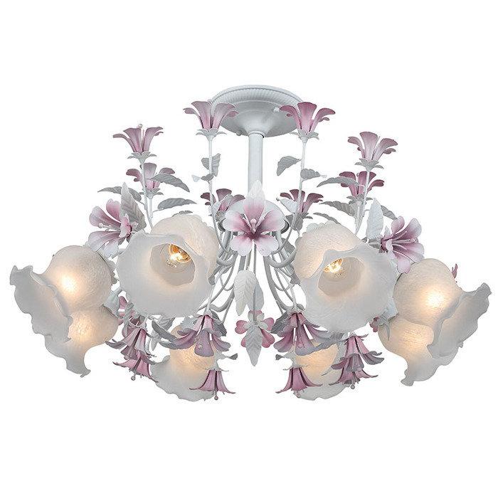 """Потолочная люстра ST Luce """"Brocca"""" декорированна цветами"""