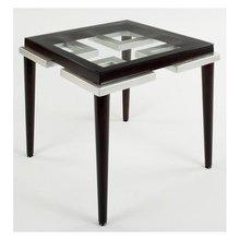 Стол журнальный квадратный со стеклом