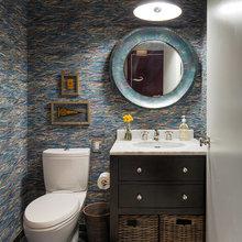 Фотография: Ванная в стиле Современный, Эклектика, Лофт, Декор интерьера, Квартира, Дома и квартиры, Нью-Йорк – фото на InMyRoom.ru