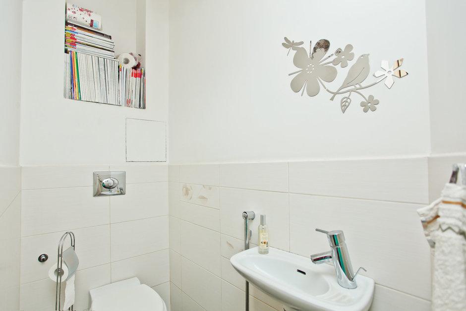 Фотография: Ванная в стиле , Квартира, Дома и квартиры, Перепланировка – фото на InMyRoom.ru