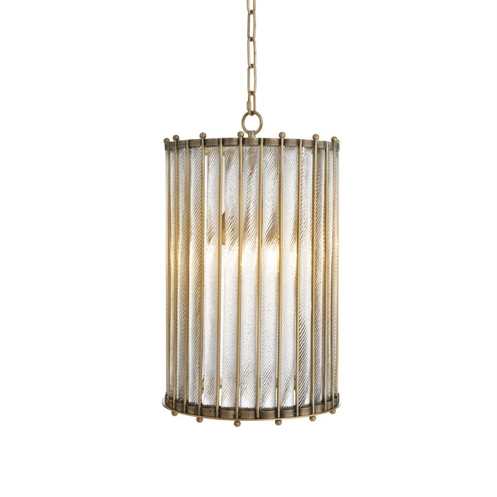 Купить Подвесной светильник Tiziano Brass с плафоном из рифленых трубок, inmyroom, Китай